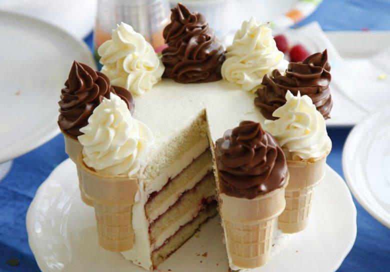 Фото торт из мороженого
