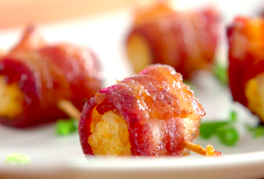 Bacon Wrapped Tater Tots
