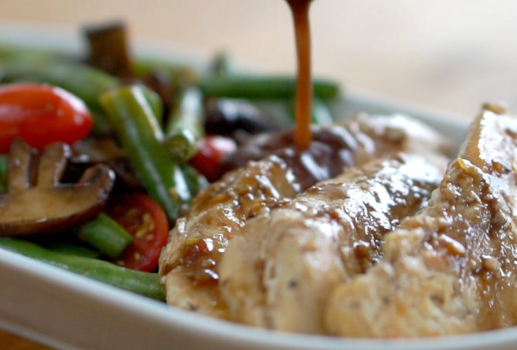 balsamic chicken with green beans and mushrooms recipe