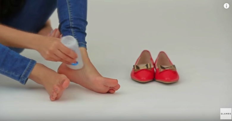 ApplyingDeodorantToFeet