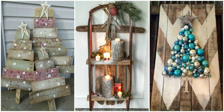 creative ways to decorate your home for christmas with pallets