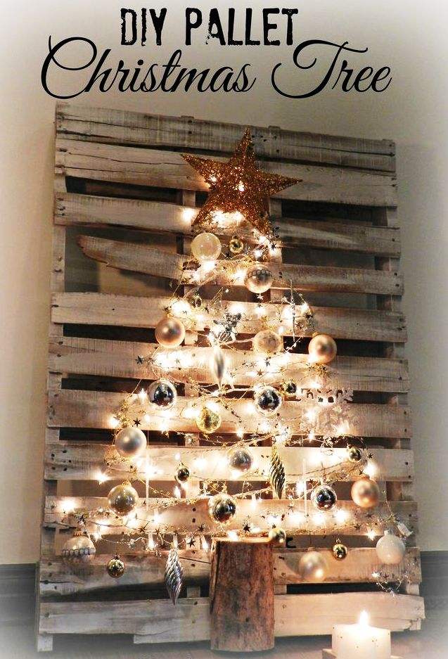 diy pallet christmas tree - Wooden Christmas Decorations To Make