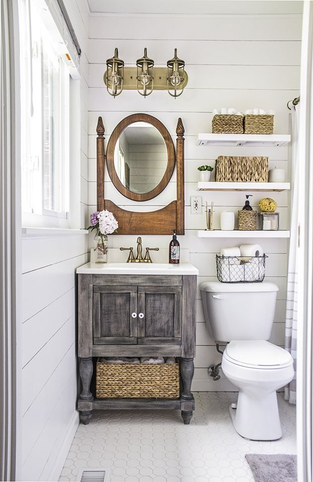 Small Bathrooms Come Alive With These 20 Stylish Transformations