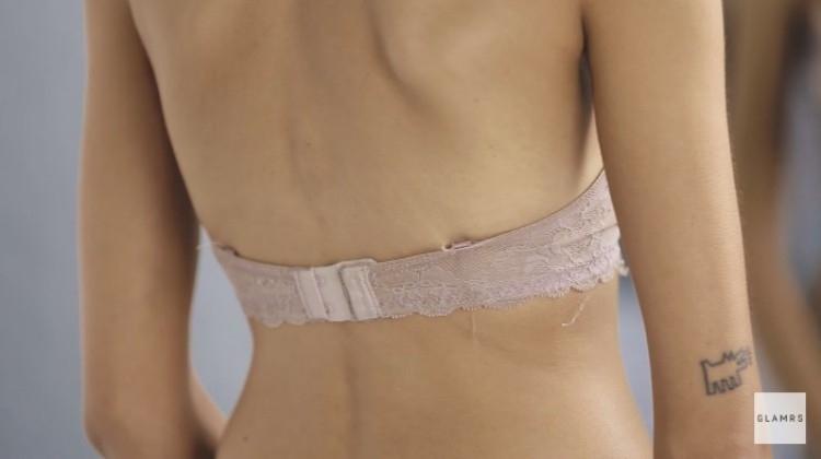 A worn-out strapless bra will fall down