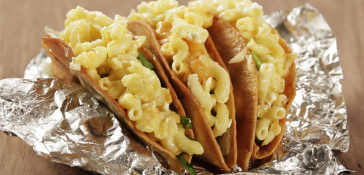 mac and cheese tacos