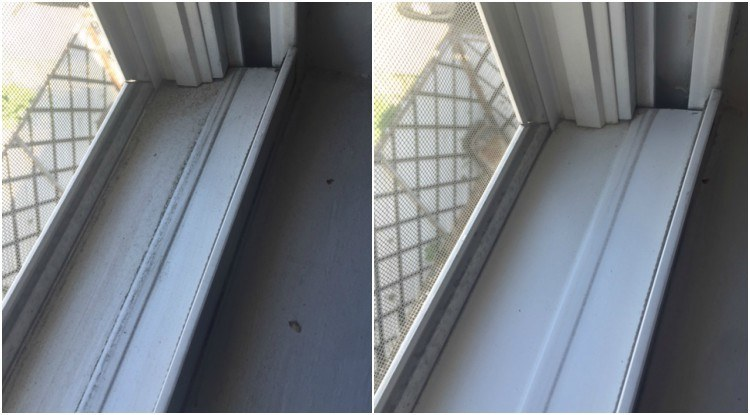 Window tracks before after