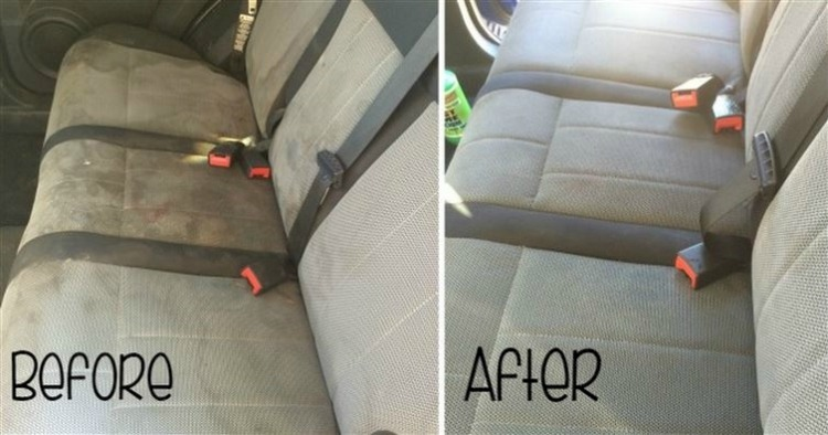 Clean car seat upholstery at home
