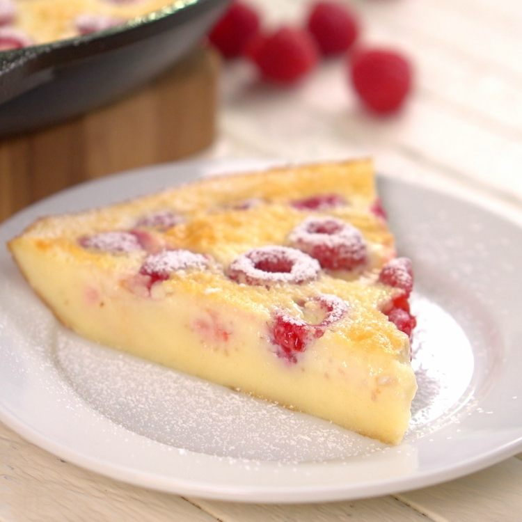 Slice Of Raspberry Clafoutis