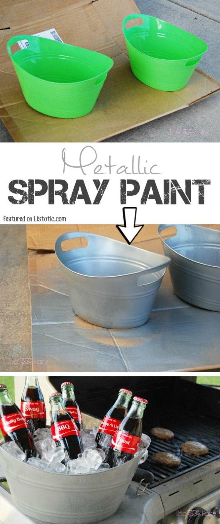 Spray Paint Ice Bucket