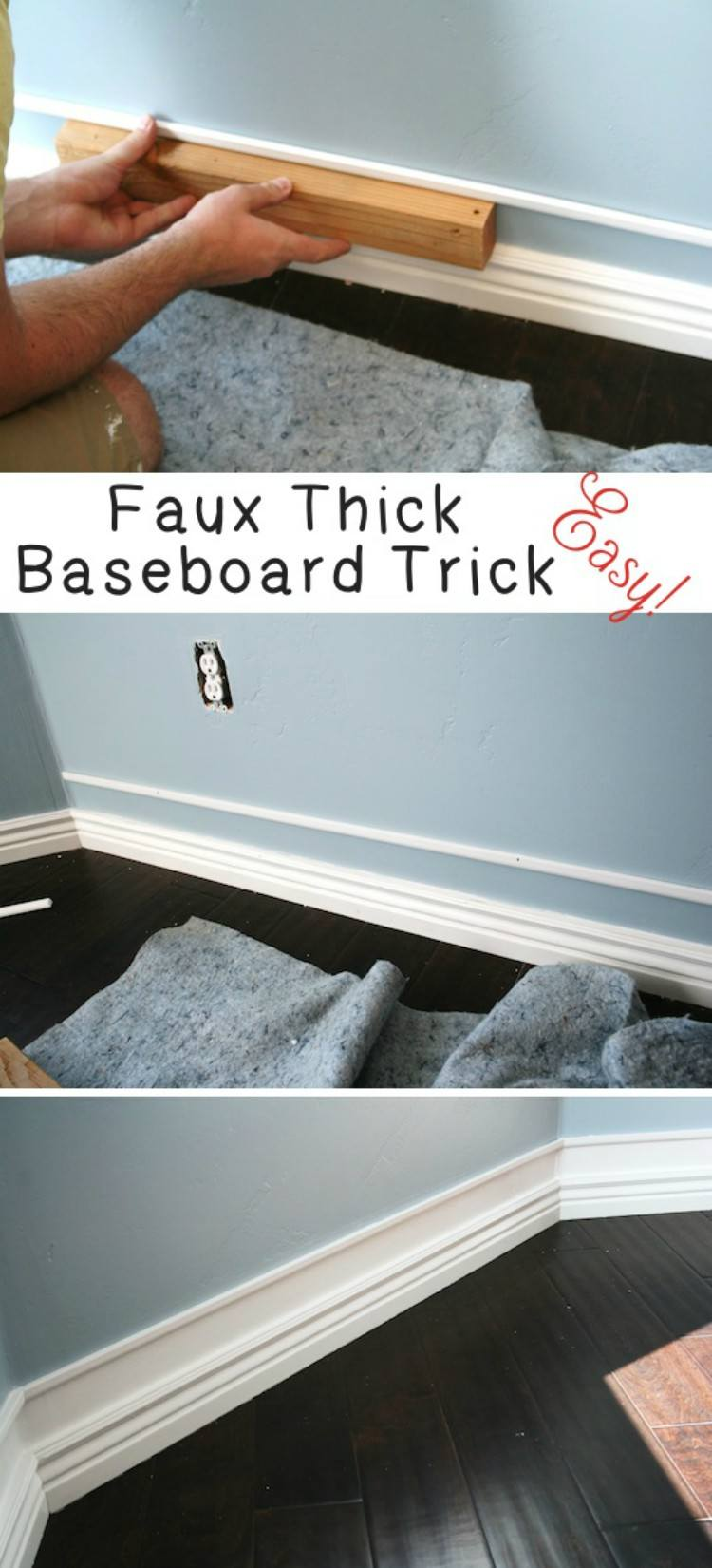 Faux Thick Baseboard