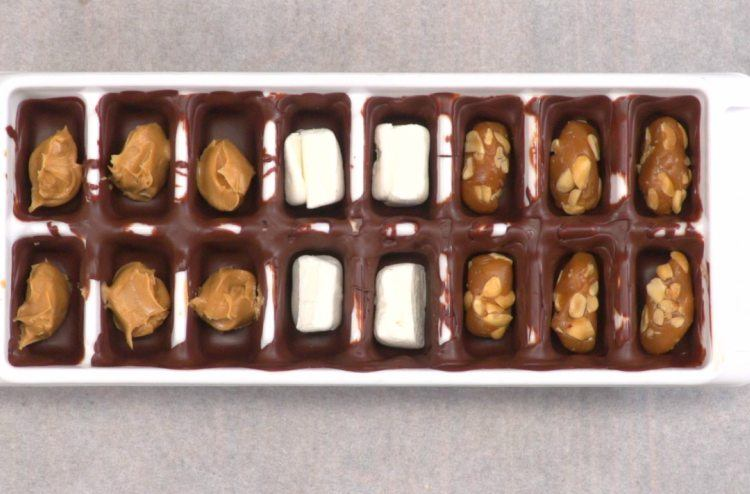 Ice Cube Tray Chocolates Fillings