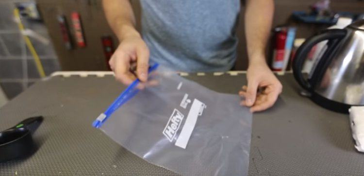 Image of zip top storage bag.