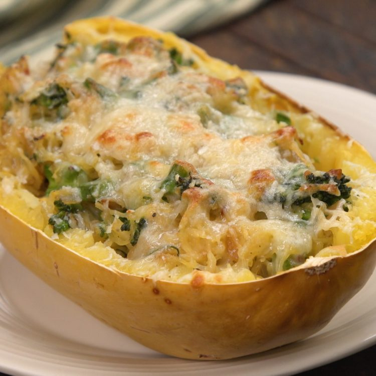 Cheesy Broccolini Spaghetti Squash 2
