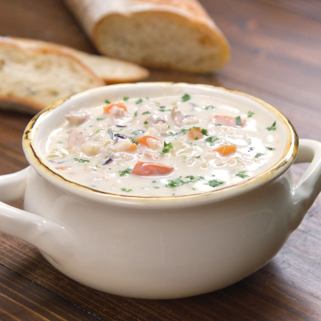 Creamy Chicken and Wild Rice Soup - Recipe & Video | TipHero