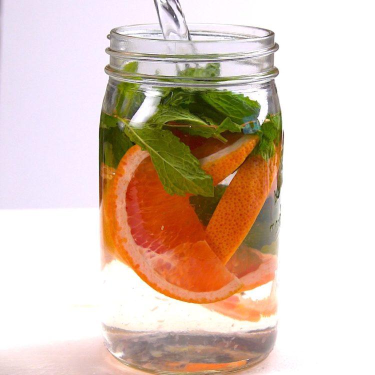 Fruit Infused Detox Water grapefruit mint