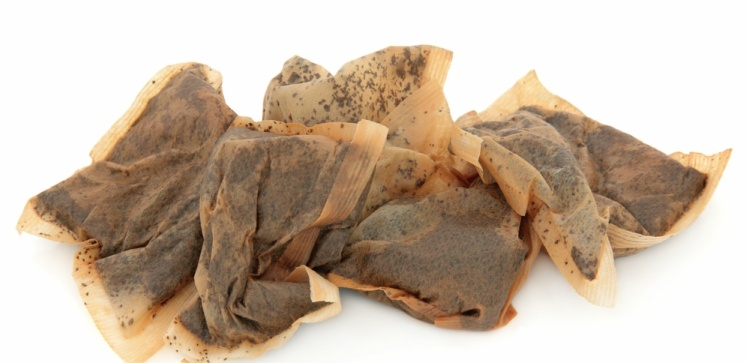 Image of used tea bags.