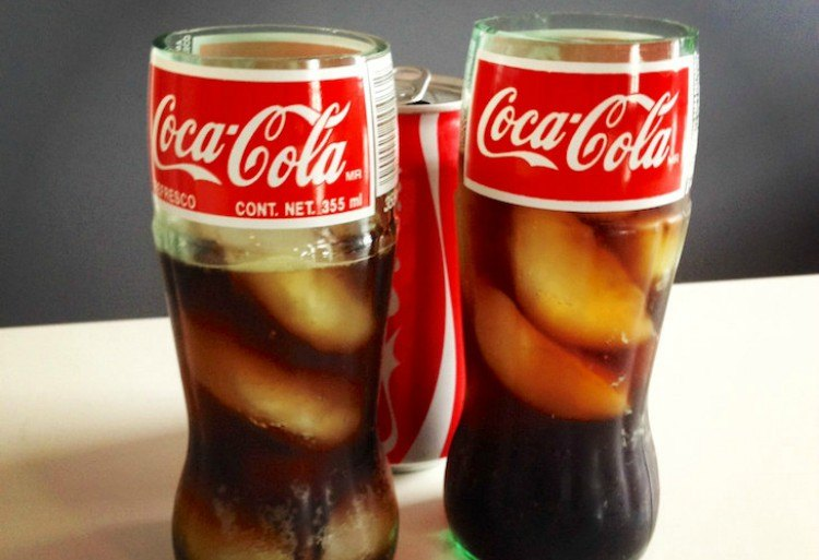 Cut Coke bottles.