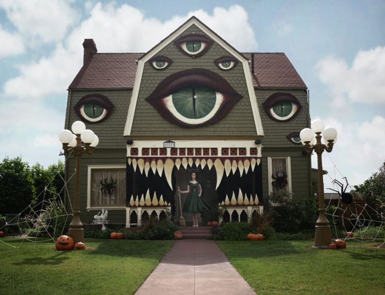 Painted monster house.