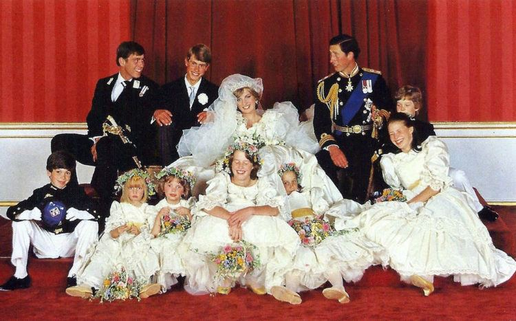 Diana and her family on wedding day.