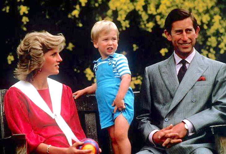Diana, Charles, and Harry.