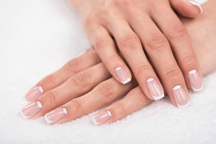 French manicure hands