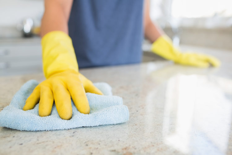 Cleaning stone countertops