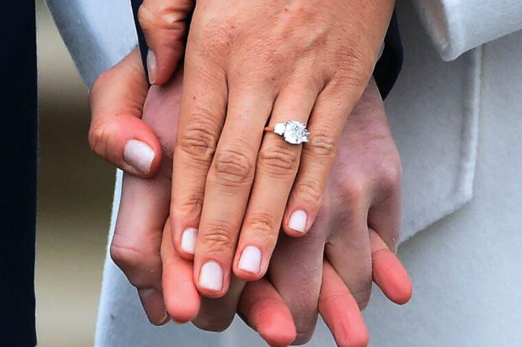 Image of Meghan Markle's wedding ring