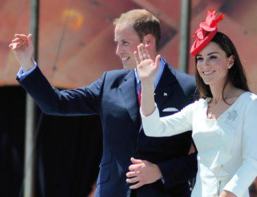 Prince William and Duchess Kate waving