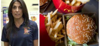 Split image of Nyree Dardarian and McDonald's